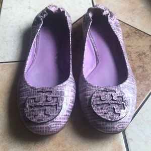 Tory Burch Ballet Flat light purple/grey Size 7.5M
